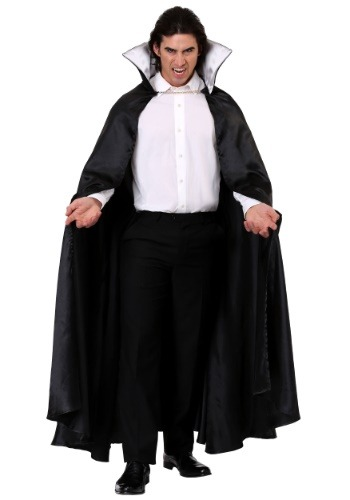 Black Vampire Cloak Costume for an Adult