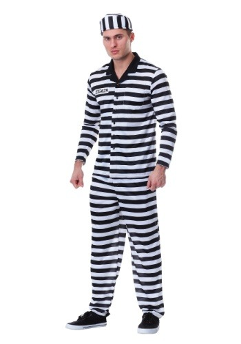 Click Here to buy Jailbird Costume for Plus Size Men from HalloweenCostumes, CDN Funds & Shipping
