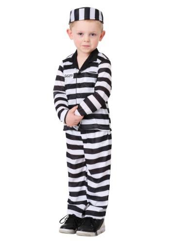 Toddler Jailbird Costume for Boys