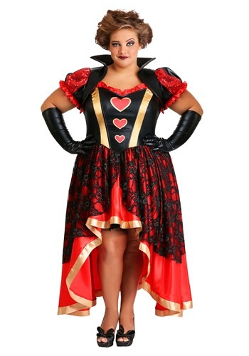 Click Here to buy Dark Queen of Hearts Womens Costume Plus Size from HalloweenCostumes, CDN Funds & Shipping