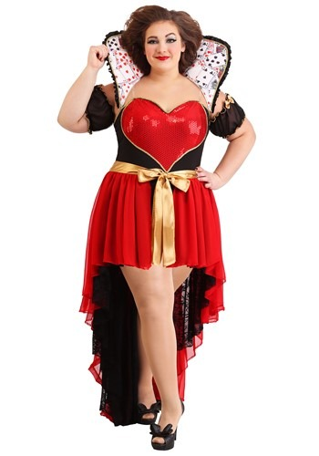 Plus Size Sparkling Queen of Hearts Womens
