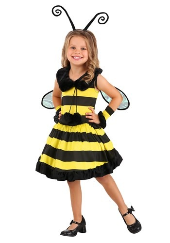 Click Here to buy Toddler Girls Deluxe Bumble Bee Costume from HalloweenCostumes, CDN Funds & Shipping