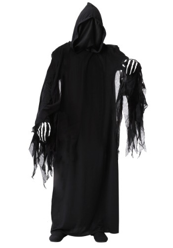 Adult Dark Reaper Costume W/ Hooded Robe | Scary Costume