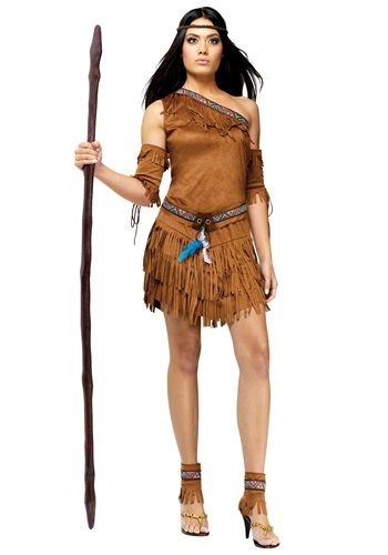 Click Here to buy Sexy Native American One-Shoulder Costume from HalloweenCostumes, CDN Funds & Shipping