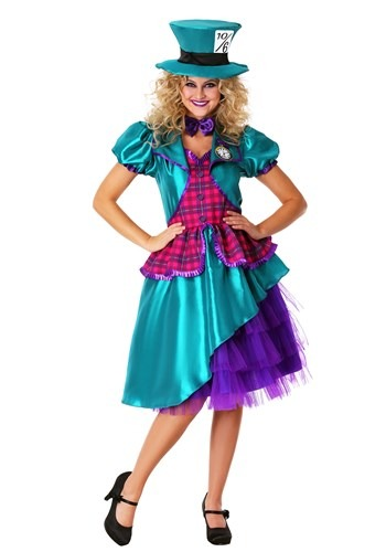 Click Here to buy Plus Size Womens Teal Hatter Costume from HalloweenCostumes, CDN Funds & Shipping