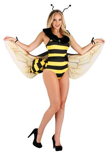 Womens Honey Bee Bodysuit Costume