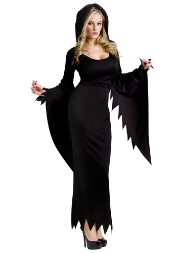 Click Here to buy Black Hooded Gown Costume from HalloweenCostumes, CDN Funds & Shipping