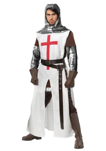 Click Here to buy Crusader Plus Size Mens Costume from HalloweenCostumes, CDN Funds & Shipping
