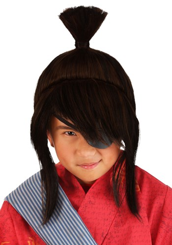 Click Here to buy Kubo Wig for Kids from HalloweenCostumes, CDN Funds & Shipping