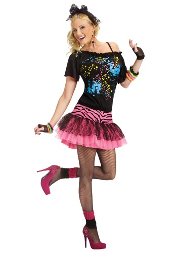 Click Here to buy Adult 80s Pop Party Costume from HalloweenCostumes, CDN Funds & Shipping