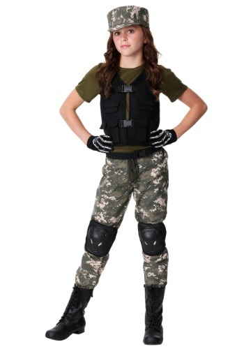 Girls Exclusive Stealth Soldier Costume