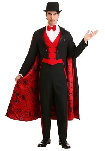Click Here to buy Mens Magician Costume Deluxe from HalloweenCostumes, CDN Funds & Shipping