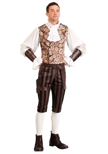 Click Here to buy Steampunk Dandy Mens Costume from HalloweenCostumes, CDN Funds & Shipping