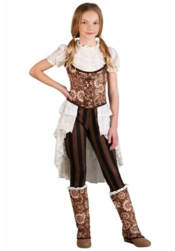 Girls Steampunk Victorian Lady Costume