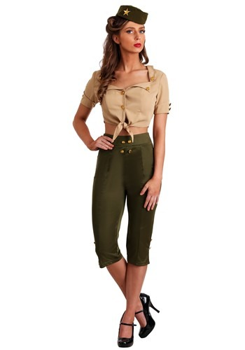 Vintage Pin Up Soldier Women's Costume