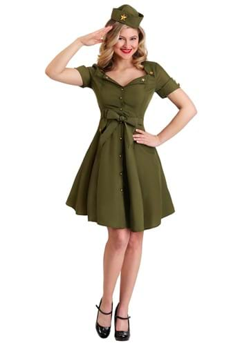 Womens Vintage Combat Cutie | Army Costume
