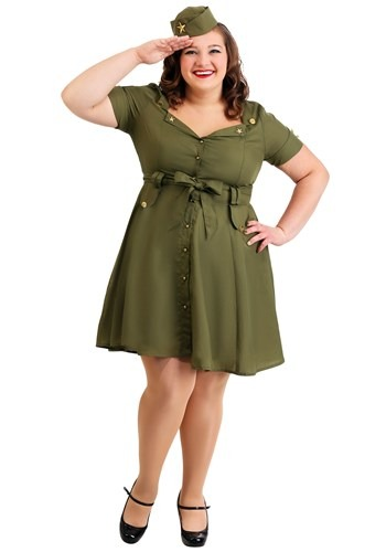 Click Here to buy Plus Size Womens Vintage Combat Cutie from HalloweenCostumes, CDN Funds & Shipping