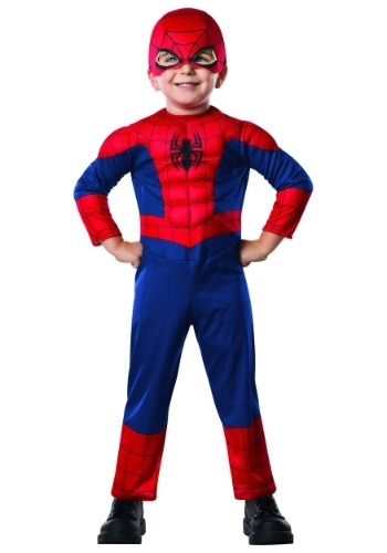 Click Here to buy Spider-Man Costume for Toddlers from HalloweenCostumes, CDN Funds & Shipping