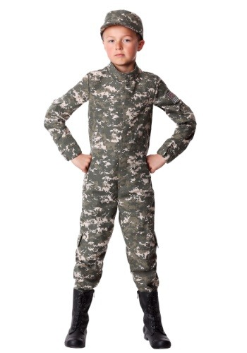 Boys Modern Combat Soldier Costume