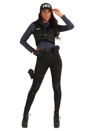 Click Here to buy SWAT Babe Womens Costume from HalloweenCostumes, CDN Funds & Shipping