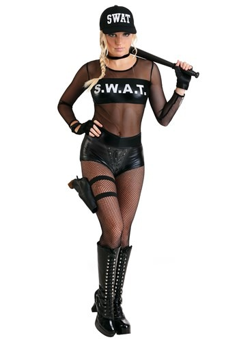 Womens Sultry SWAT Costume