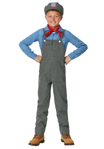 Click Here to buy Train Engineer Costume for Kidsren from HalloweenCostumes, CDN Funds & Shipping