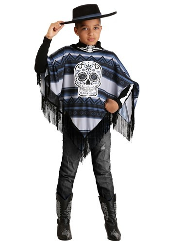 Click Here to buy Day of the Dead Poncho Boys Costume from HalloweenCostumes, CDN Funds & Shipping