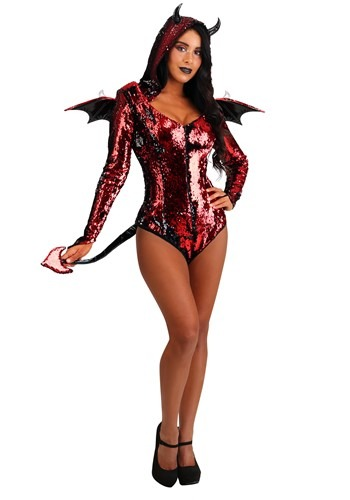 Click Here to buy Sequined Devil Womens Costume from HalloweenCostumes, CDN Funds & Shipping