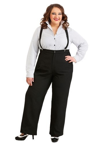 1920s Gangster Lady Plus Size Costume