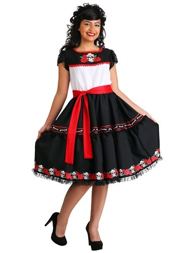 Click Here to buy Sassy Sugar Skull Womens Costume from HalloweenCostumes, CDN Funds & Shipping