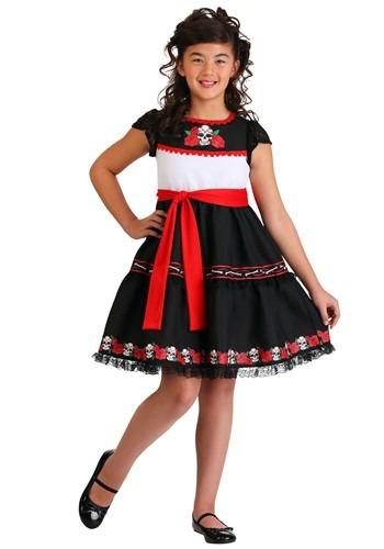 Click Here to buy Sassy Sugar Skull Girls Costume from HalloweenCostumes, CDN Funds & Shipping
