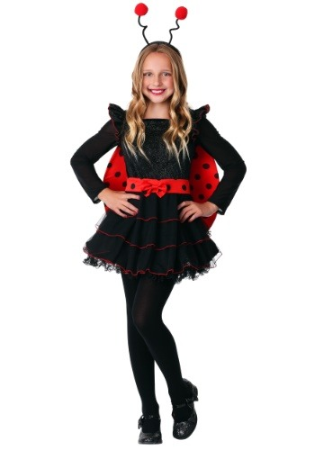 Click Here to buy Girls Sweet Ladybug Costume from HalloweenCostumes, CDN Funds & Shipping