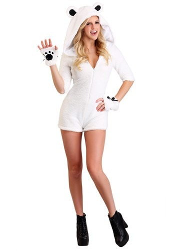 Pretty Polar Bear Costume for Women