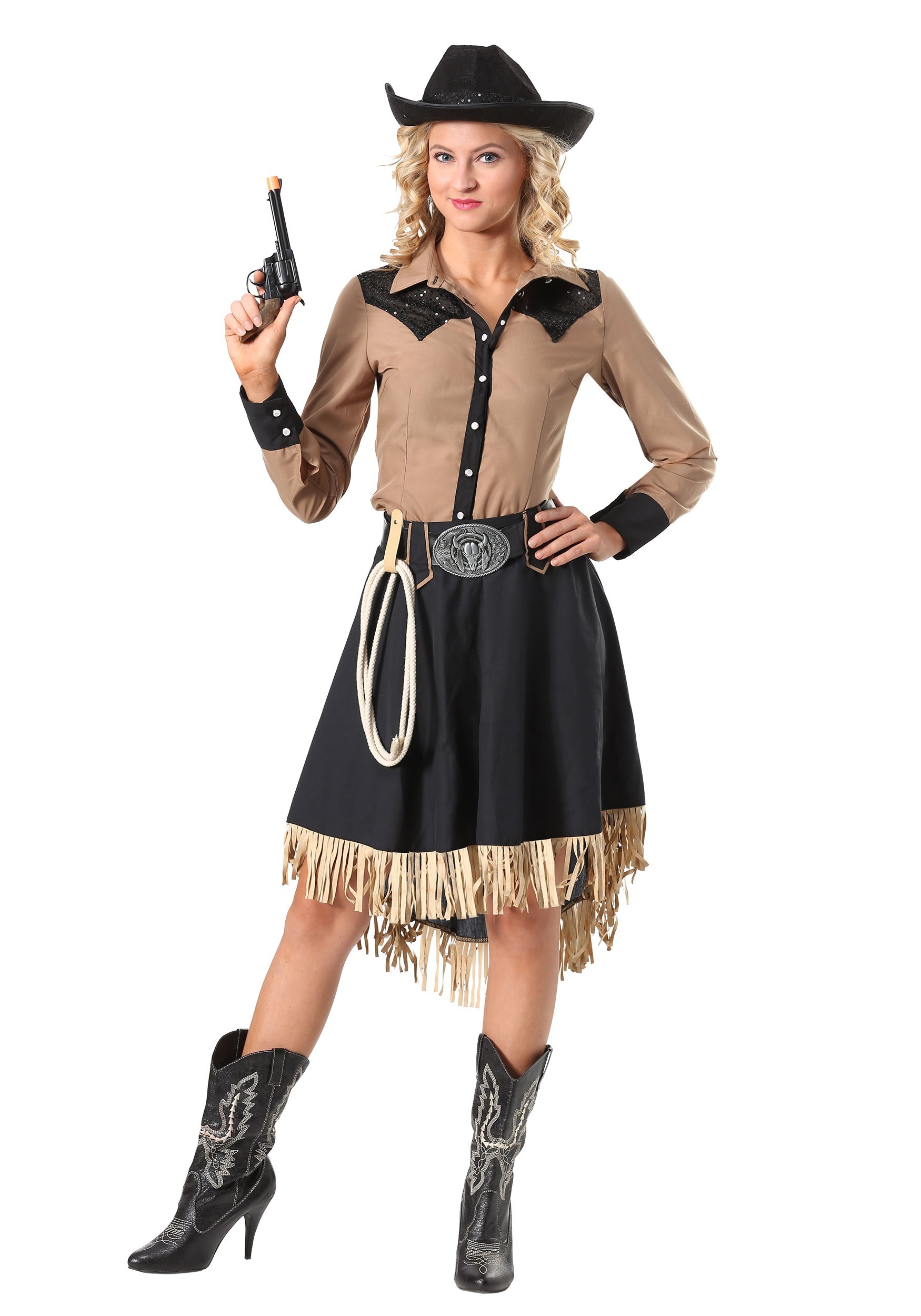 Lassou0026#39;n Cowgirl Plus Size Costume for Women