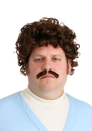 Click Here to buy Nacho Libre Wig & Mustache for Adults from HalloweenCostumes, CDN Funds & Shipping