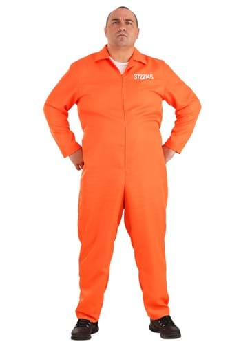 Mens Plus Size Orange Prison Jumpsuit