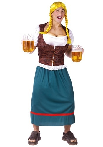 Click Here to buy Mens German Beer Girl Costume from HalloweenCostumes, CDN Funds & Shipping
