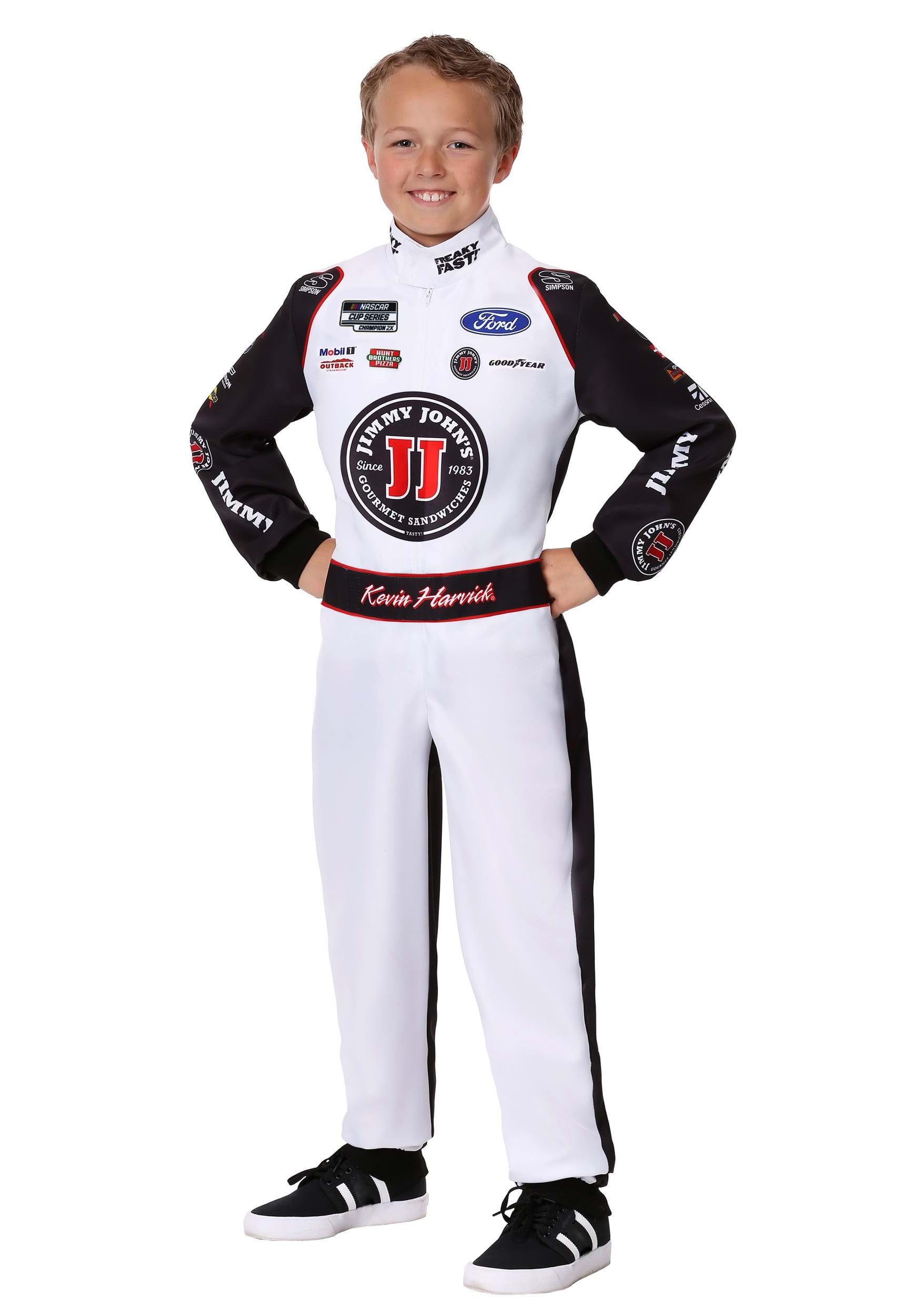 #4 Kevin Harvick(R) Jimmy John's Uniform Costume for a Child