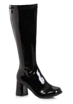 Women's Black Wide Width Gogo Boots