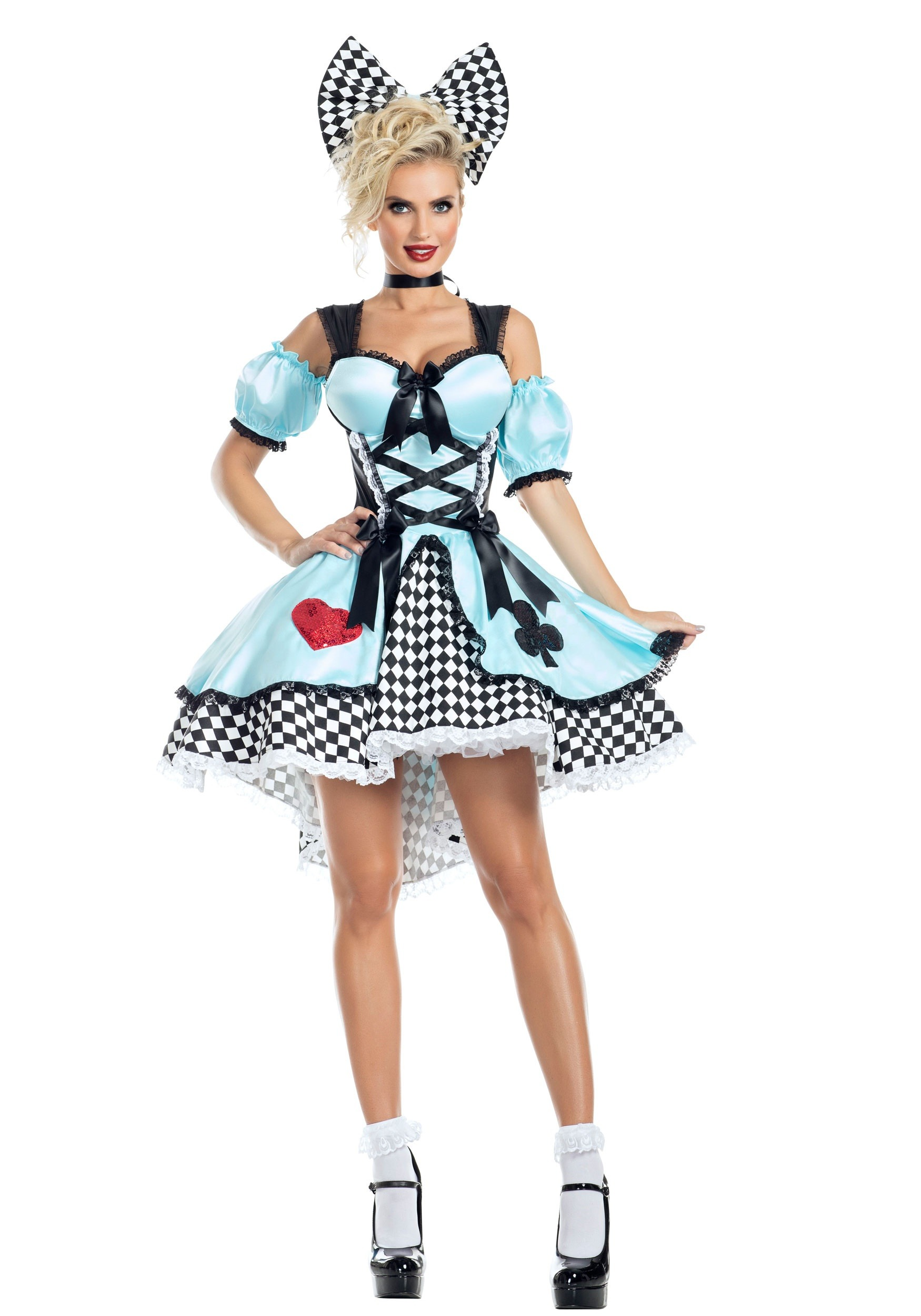 INOpets.com Anything for Pets Parents & Their Pets Flirtatious Alice Costume for Women