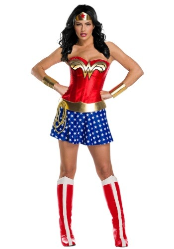 Click Here to buy Classic Premium Womens Wonder Woman Costume from HalloweenCostumes, CDN Funds & Shipping