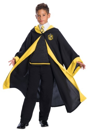Deluxe Hufflepuff Student Costume for Kids