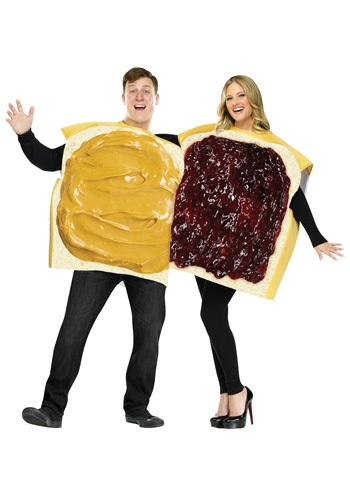 Click Here to buy Adult Peanut Butter and Jelly Costume from HalloweenCostumes, CDN Funds & Shipping