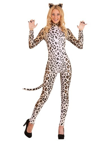 Click Here to buy Leopard Womens Catsuit from HalloweenCostumes, CDN Funds & Shipping