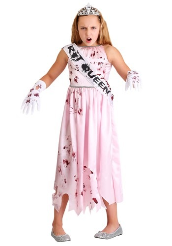 Click Here to buy Zombie Queen Girls Costume from HalloweenCostumes, CDN Funds & Shipping