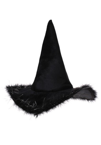 Click Here to buy Velvet Witch Hat With Fur for Adults from HalloweenCostumes, CDN Funds & Shipping