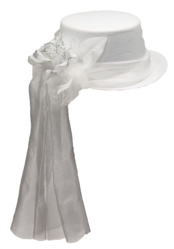 Click Here to buy Top Hat Accessory with Ghostly Rose from HalloweenCostumes, CDN Funds & Shipping