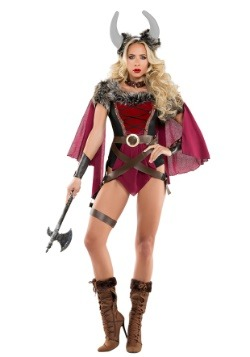 Women's Voluptuous Viking Costume