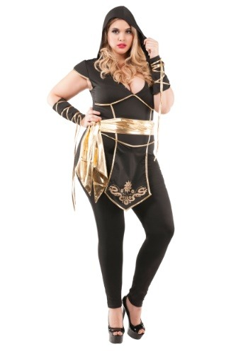 Women's Plus Size Ninja Assassin Costume
