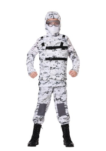 Winter Camo Soldier Costume for Boys